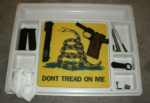 Pistol Cleaning Lap Tray